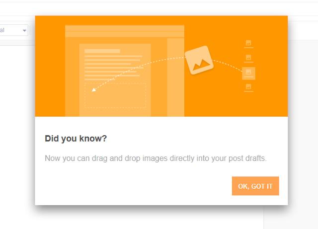 Blogger Aplikasi: Masukkan Gambar Ke Post Lebih Mudah