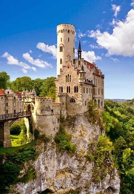 Lichtenstein Castle Sits on a Crag Overlooking the Echaz Valley