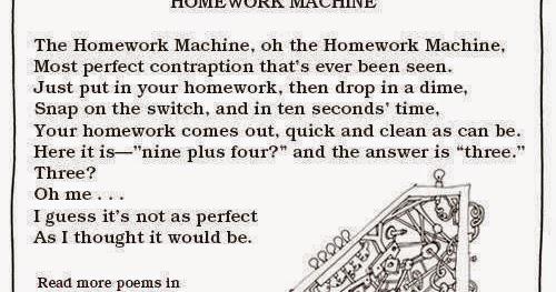 Homework Machine Poem
