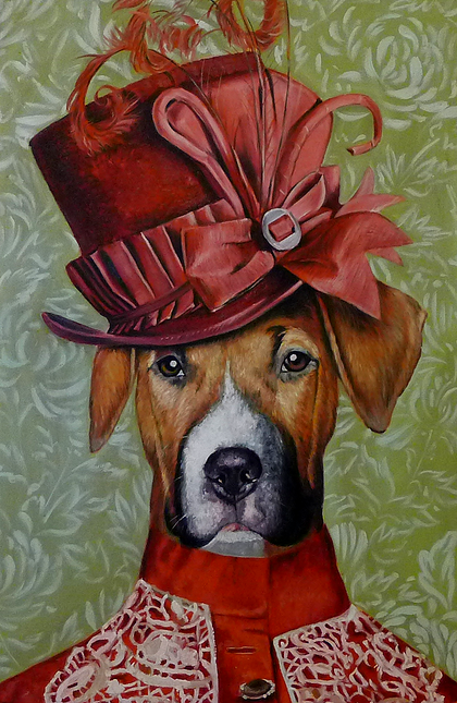 12-The-Victorian-Splendid-Beast-Your-Animal-Friend-on-an-Oil-Painting-www-designstack-co