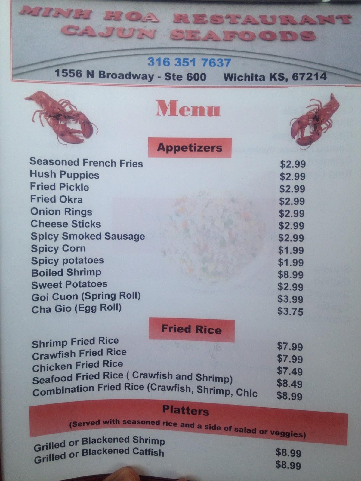 Minh Hoa Restaurant & Cajun Seafood Reviewed (CLOSED) – Wichita By E.B.