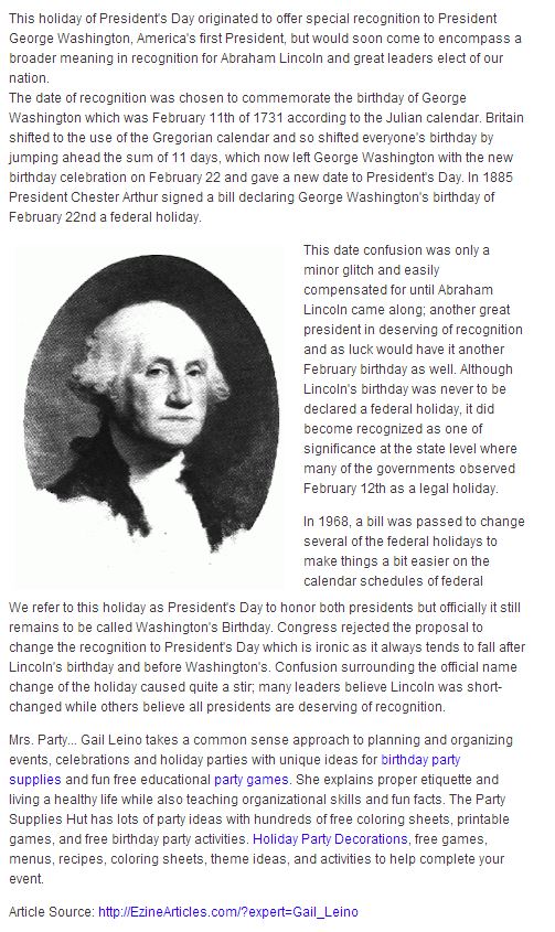george washington kids facts