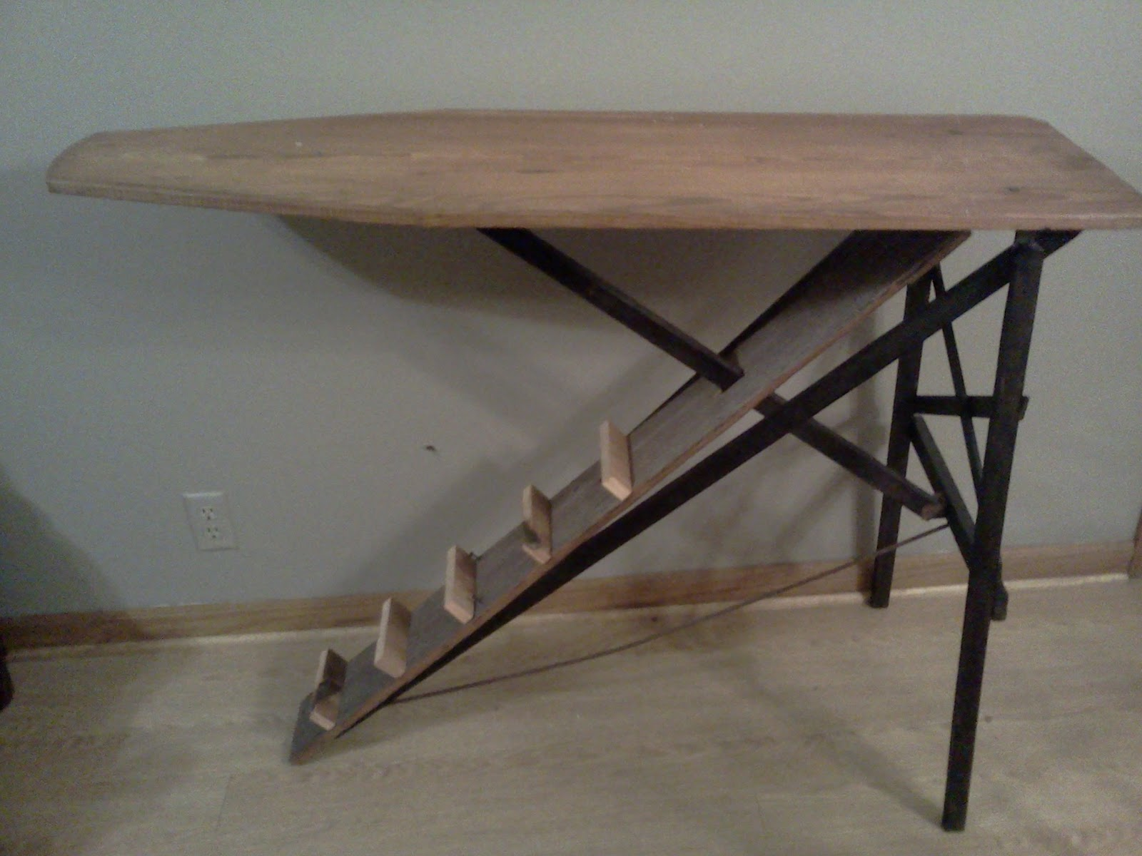 ironing board furniture i swear i staired at this old wooden ironing board for two hours bernhardt vintage desk 458592