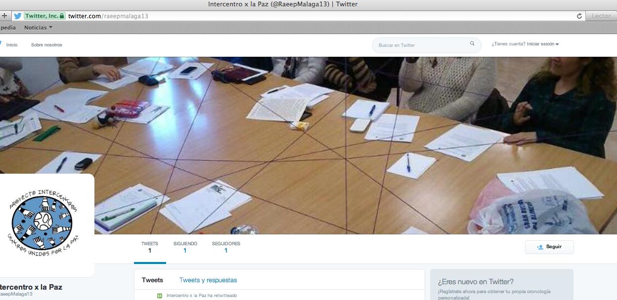 Twitter Centros unidos por la Paz