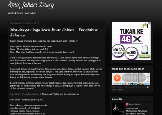 Blog Amir Jahari   Tanpamu ke Pentas AJL27