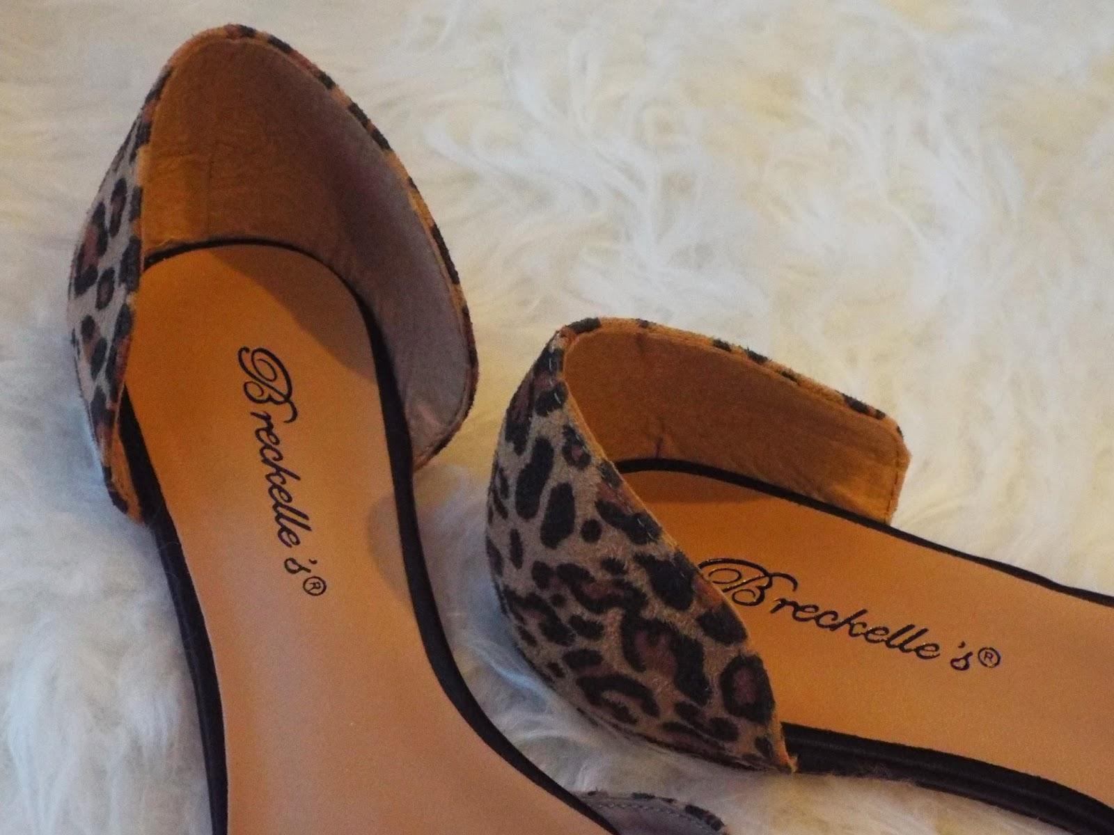 breckelles leopard flats dorsay