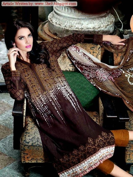 Gul Ahmed Classic Designer of Chantilly De Silk Winter 2014