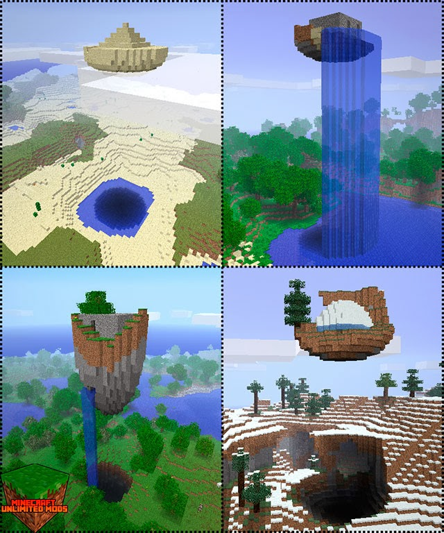 Floating Ruins Mod Minecraft diferentes biomas