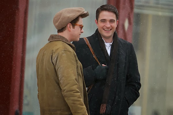 Robert Pattinson on the set of the drama Life