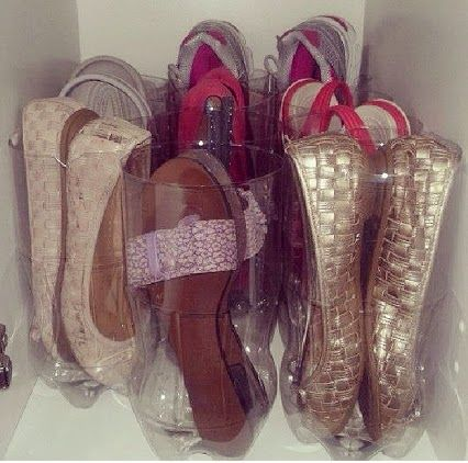 Ordenar los zapatos en el armario