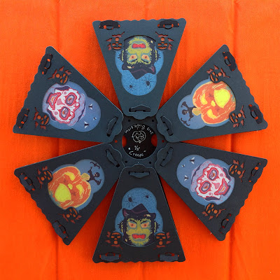 Top view of vintage style 12-side lanterns in full color by Halloween artist Bindlegrim