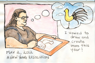 New Year's Resolution drawing by ©Ana Tirolese