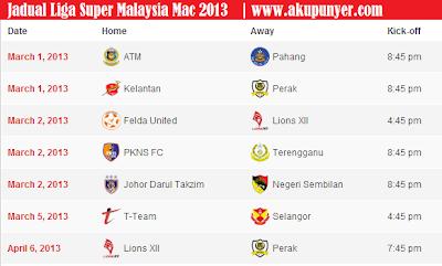super 2013,jadual liga super,liga super malaysia,sokernet,keputusan