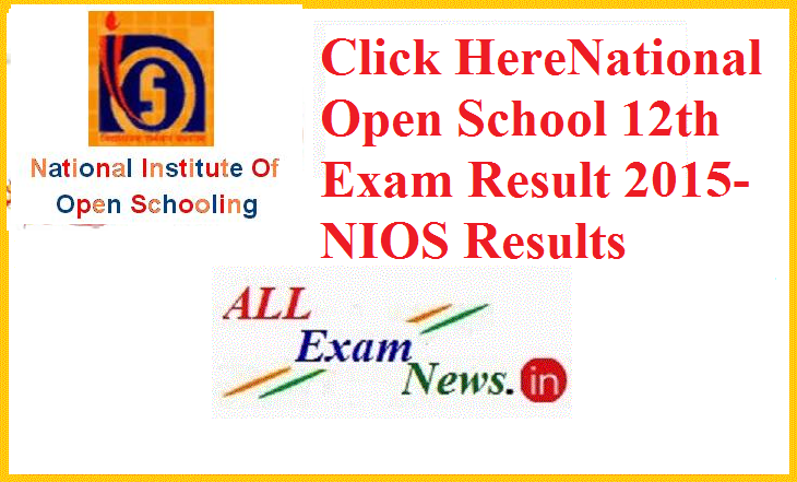 National Open School 12th Exam Result 2015 -NIOS Results