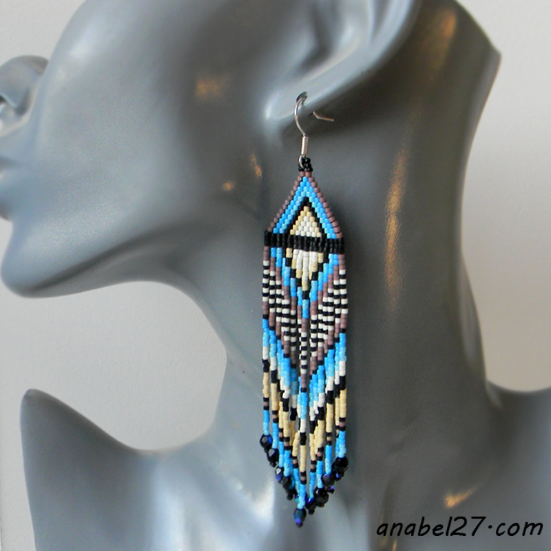 seed bead earrings beaded earrings beadwork jewelry ethnic