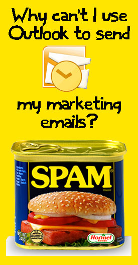 Why can't I use Outlook to send marketing emails?