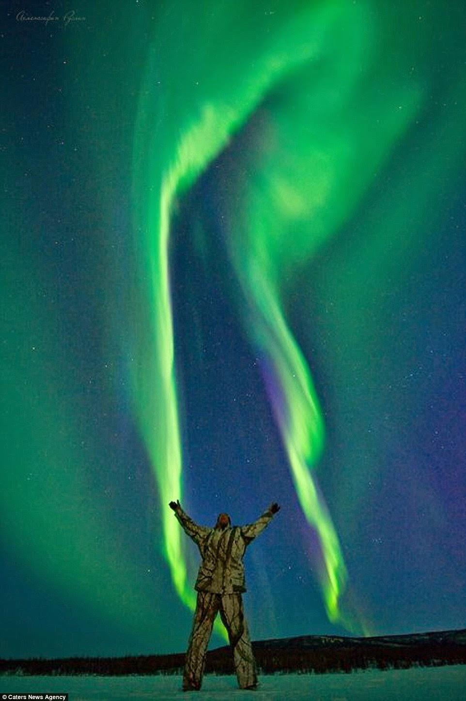 الشفق القطبي مع رسلان