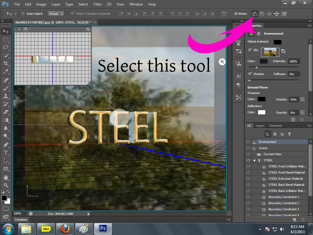 3d text with adobe photoshop cs6 extended quick easy graphic quick easy graphic tutorials for beginners baditri Images