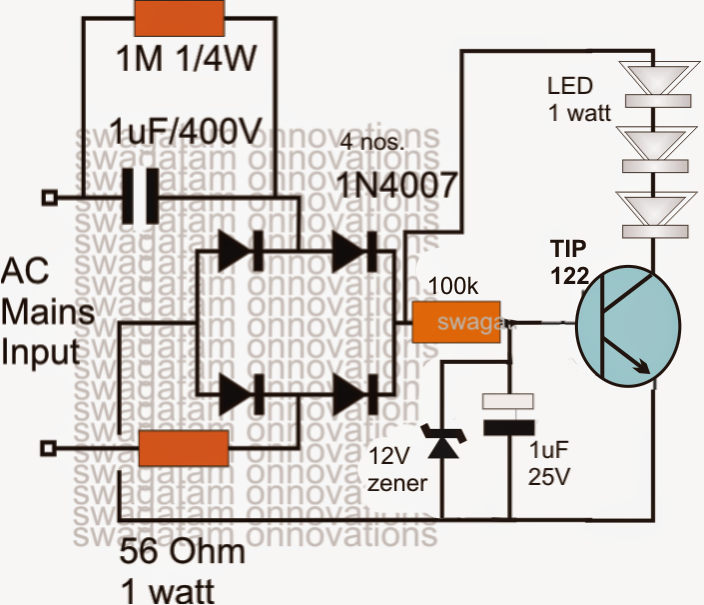 3 watt led driver circuit diagram ireleast info 3 watt led driver circuit diagram the wiring diagram wiring circuit