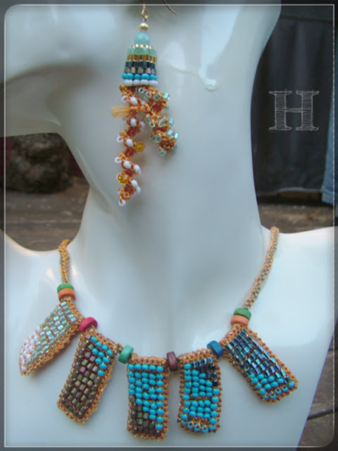 Beaded Crochet Necklace
