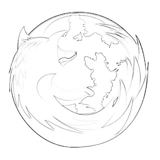 Mozilla Firefox Logo Sketch