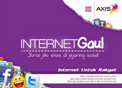 Daftar Paket Internet Gaul Axis Unlimited 2015
