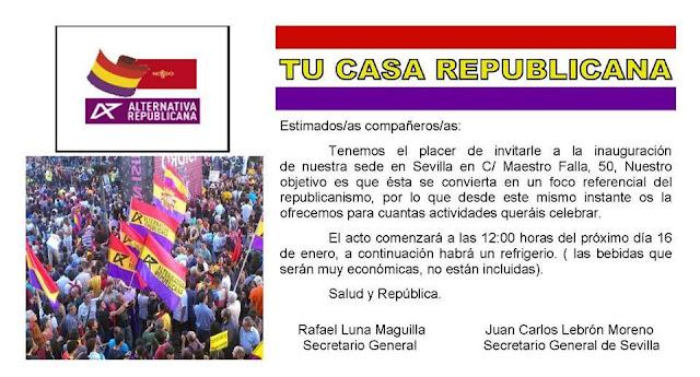 Inauguración de la sede de Alternativa Republicana en Sevilla