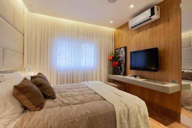 Construindo Minha Casa Clean Quartos Decorados com Piso  ~ Quarto Rustico Em Madeira