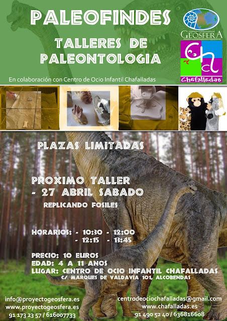 Taller infantil de paleontología en Chafalladas