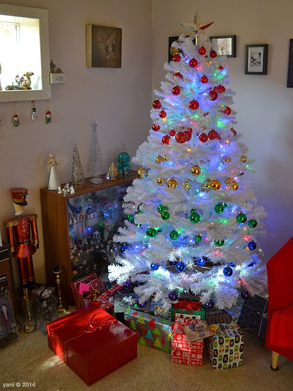 big gay rainbow tree with presents, 2014