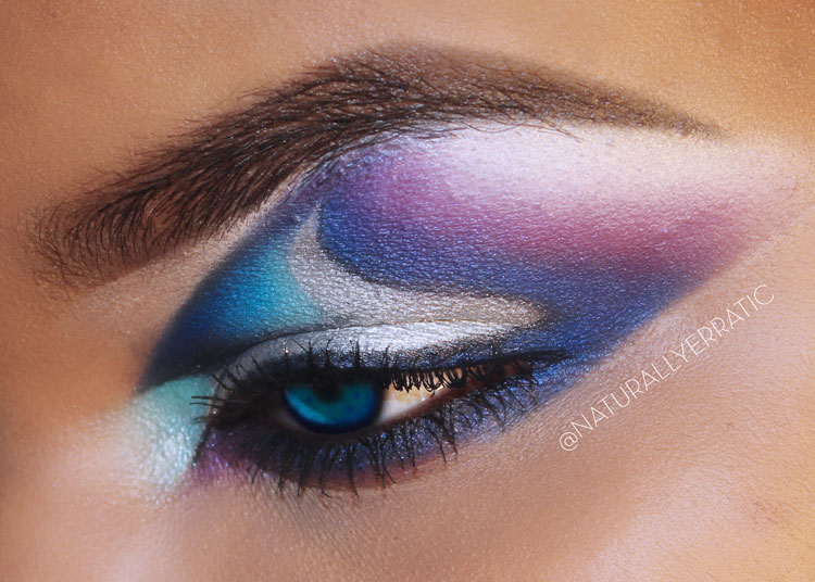 Dramatic Makeup, Creative Makeup, Futuristic Makeup, Smokey Eye Makeup, Sugarpill, Sugarpill Makeup,