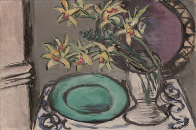 Max Beckmann - Still life with orchids and green bowl,1943.