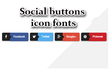 Social Buttons icon fonts