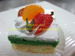 Fresh Fruit with Fresh Cream Mini Slice Cake