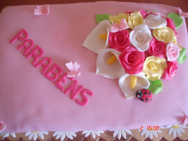 Bolo de Aniversário com Flores