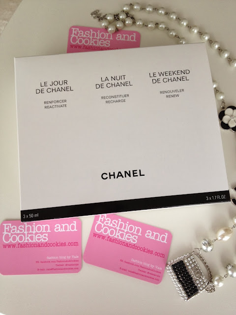 Chanel Le Jour La Nuit Le Weekend, fashion blogger, Fashion and Cookies, Chanel serums box