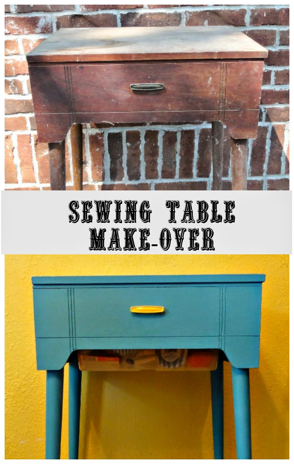 Sewing Table Make-over with DIY Chalk Paint