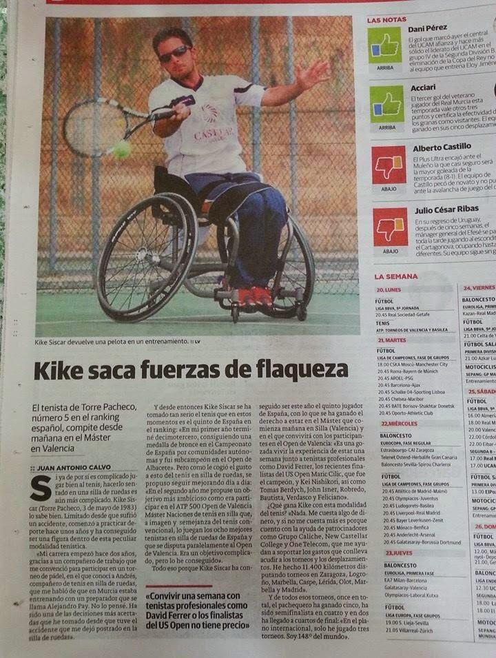 Noticia publicada en La Verdad - 20/10/2014