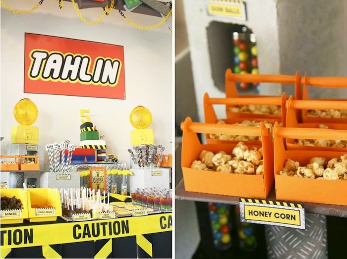 The LEGO Movie watching party construction ideas