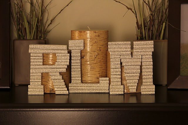 page letters actually uses flat wooden letters as a base which can be bought from michaels or joanns for about the same price as the 3 d papier mache