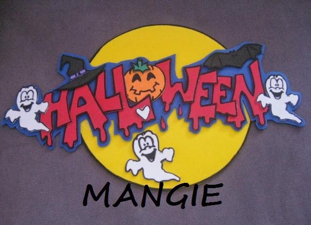 Cartel Halloween en goma eva