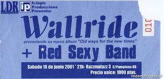 entrada de concierto de wallride