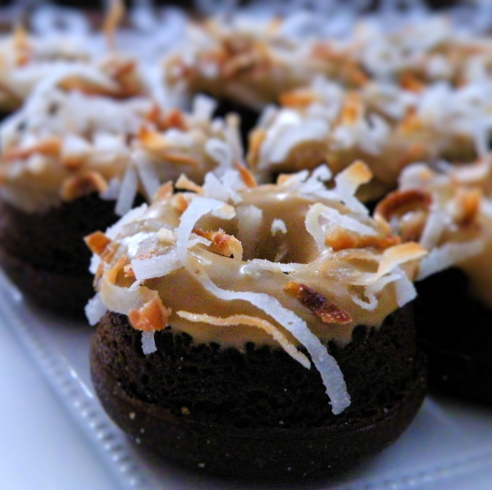 Vittles and Bits: Baked Chocolate Coconut Coffee Donuts