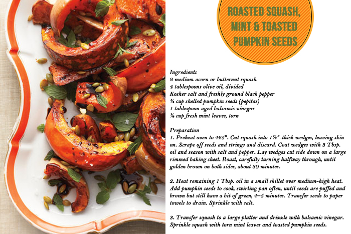 ... pumpkin seeds roasted acorn squash with mint sumac and sunflower seeds