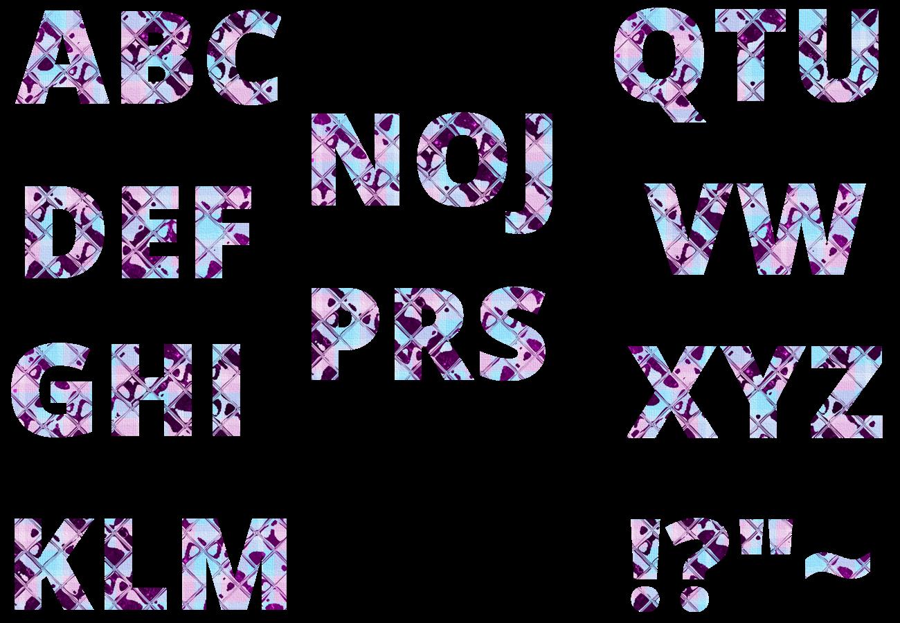 gemustertes Alphabet