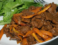 Carne de Soja com Cenoura e Molho de Laranja (vegana)