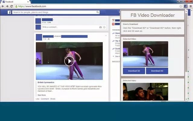 اضافة تحميل الفيديو من فيسبوك جوجل كروم Facebook Video Downloader 1.5.5
