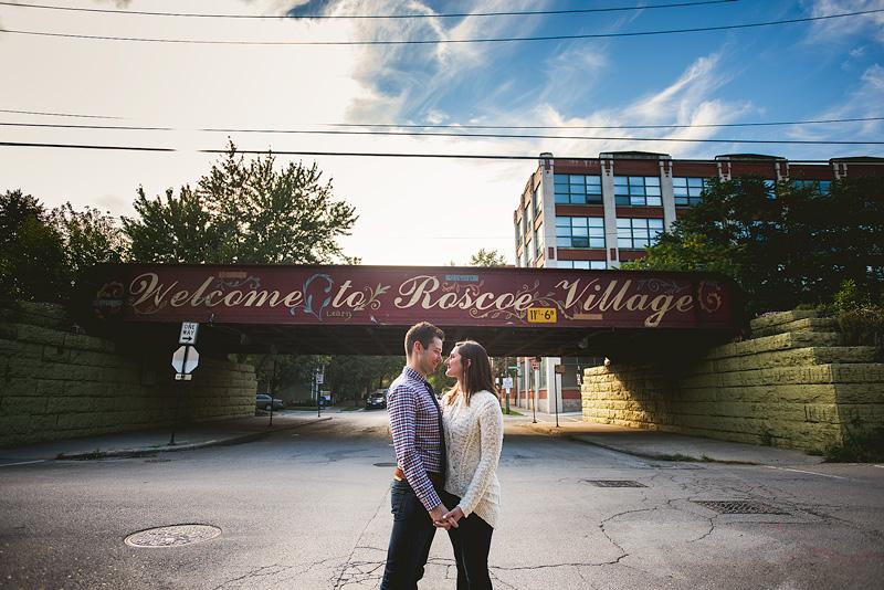 Roscoe Village Chicago Engagement Photo