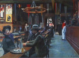 Cafes provided cheap food and shelter from unheated and unservived studios,also giving artists the opportunity to meet when artists had money they were big spenders otherwise patrons would accept a painting in settlement of bills, thus turning their cafes into informal showplaces cafes were also where artists held their wild fancy dress balls