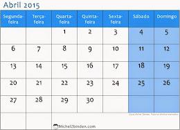 Calendário de Abril 2015